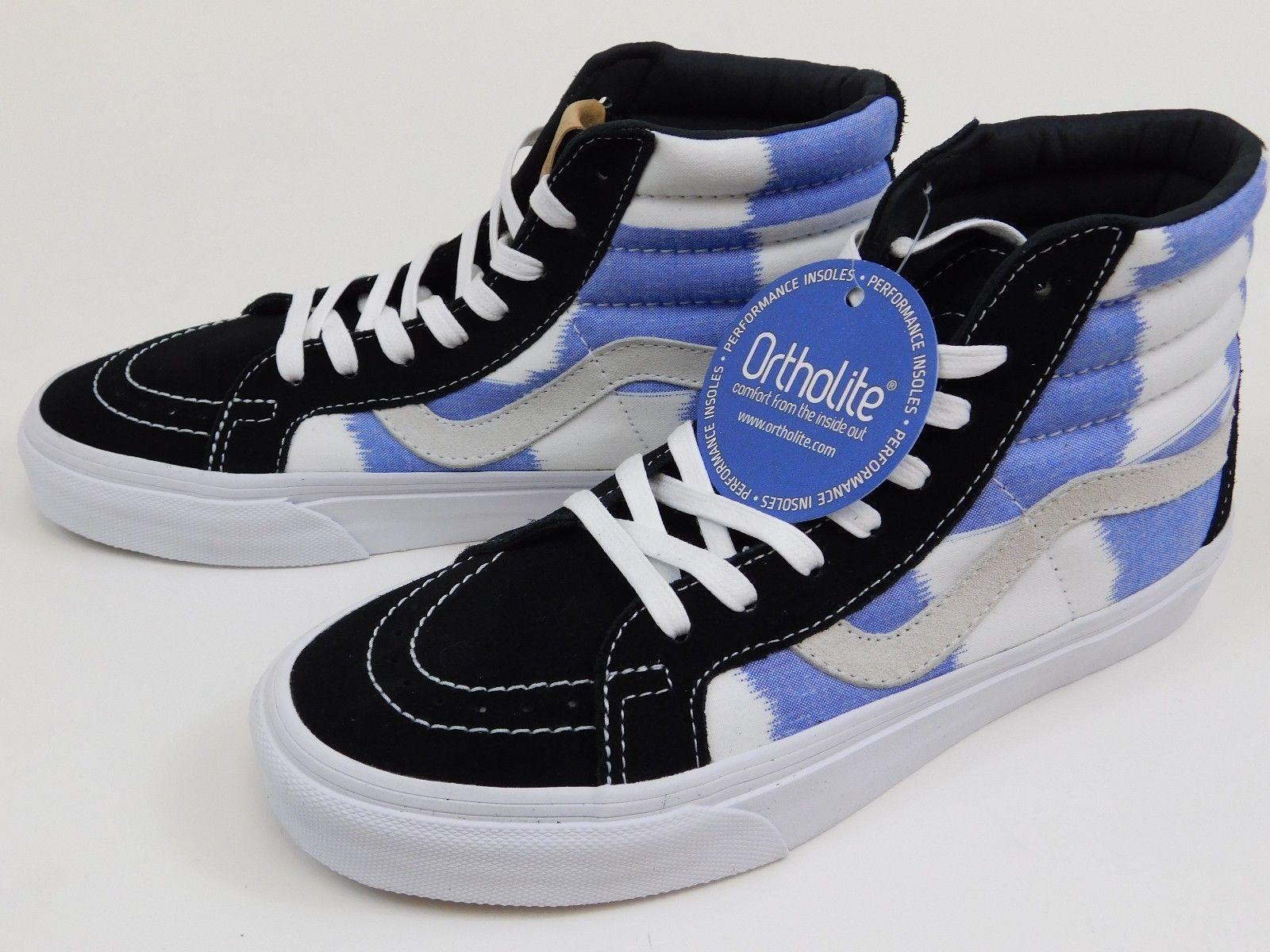 New Vans SK8-HI Reissue Glitch Check Sneakers Size US 8 Men's Shoes