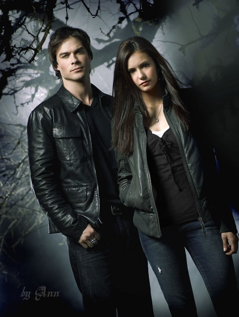 Salvatore on the vampire diaries he was pictures to pin on pinterest - Damon Salvatore And Elena Gilbert From The Vampire Diaries Yes I Ship It
