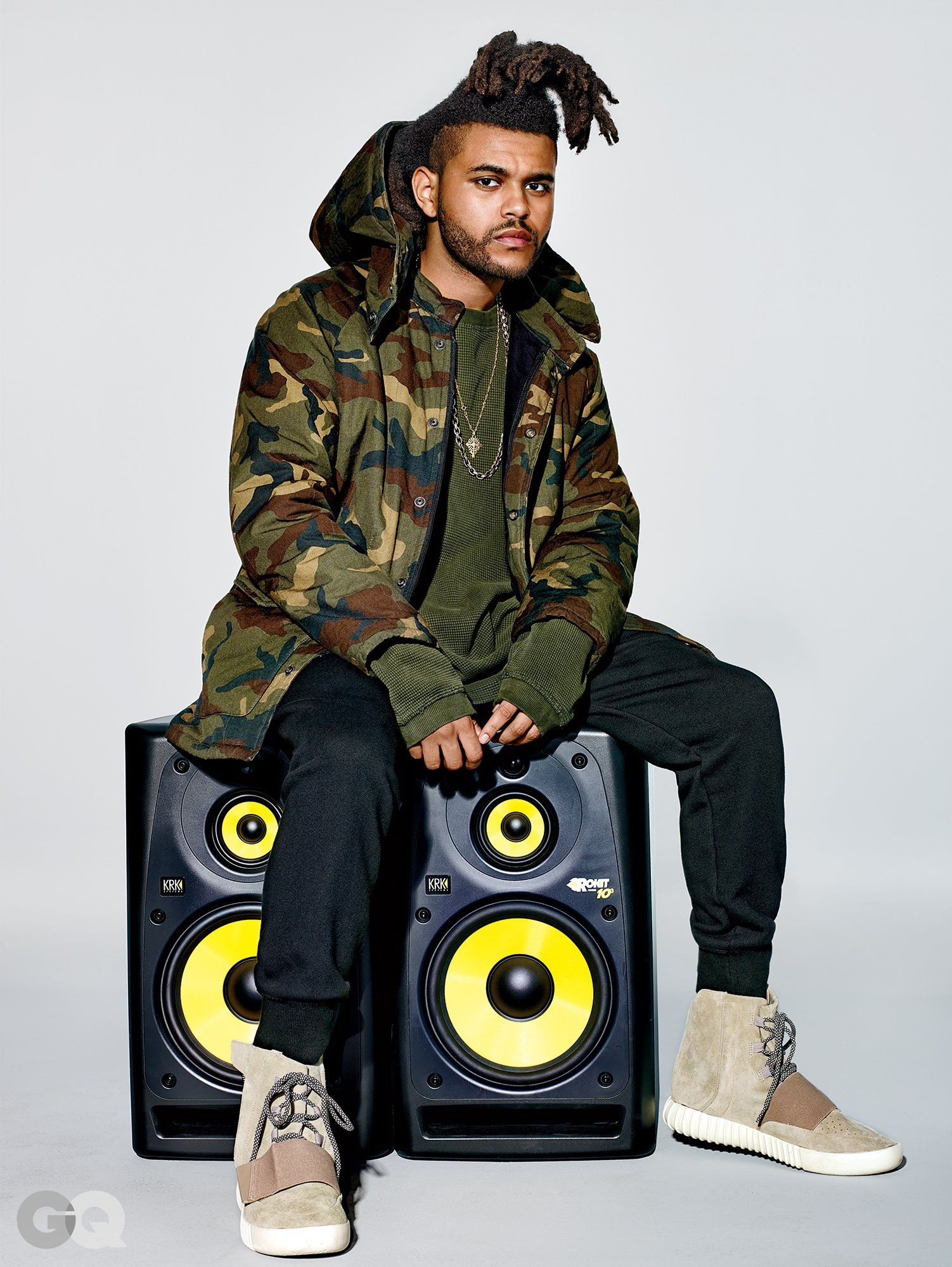 The Weeknd Wears Kanye s New Yeezy Collection  b6a4d9ee3