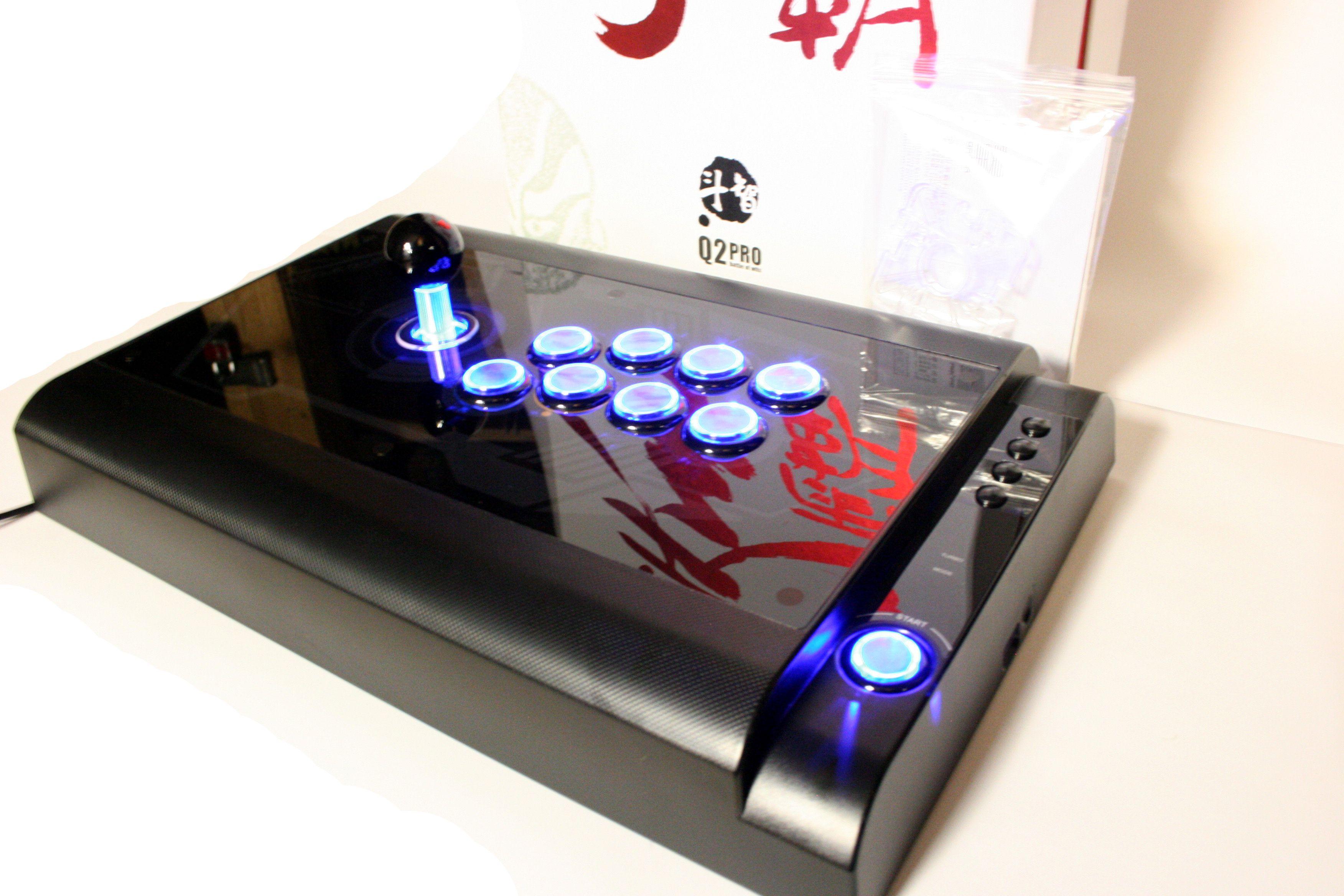 Qanba Q2 Pro Led Black Light Up Arcade Stick From Videogamesnewyork Com Arcade Joystick Arcade Arcade Stick