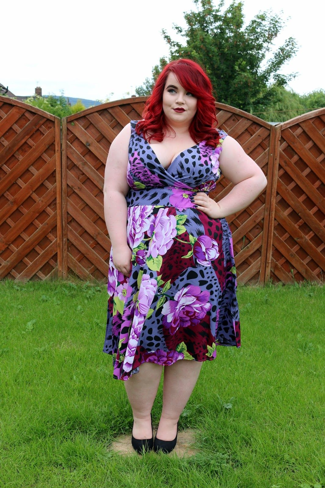 bbw couture josie vintage dress and maria nila colour refresh | bbw