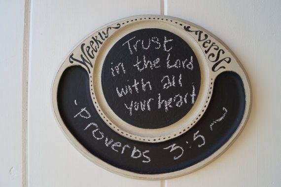 Verse of the Week Chalkboard by kijsa on Etsy, $24.00