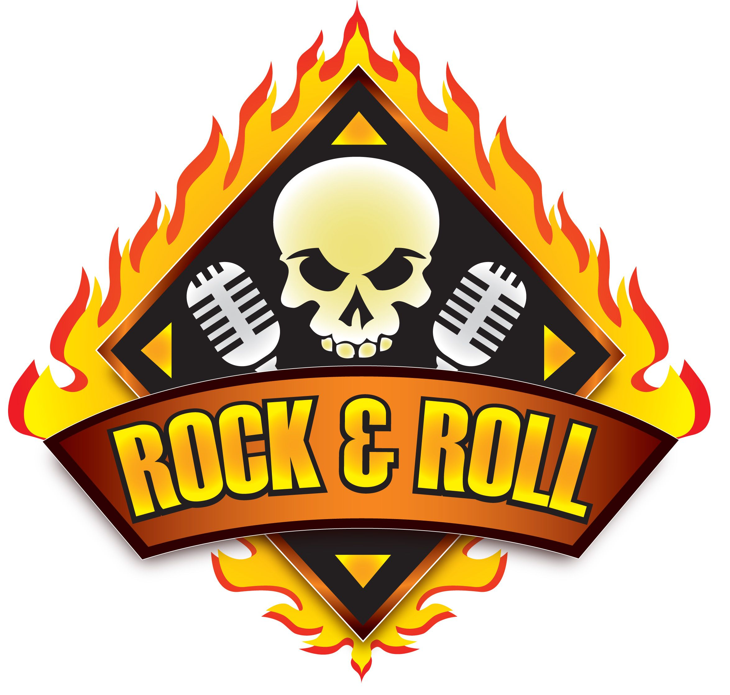 rock and roll logos clipart vector illustration u2022 rh namnet org rock and roll logo ideas rock and roll logos sketch