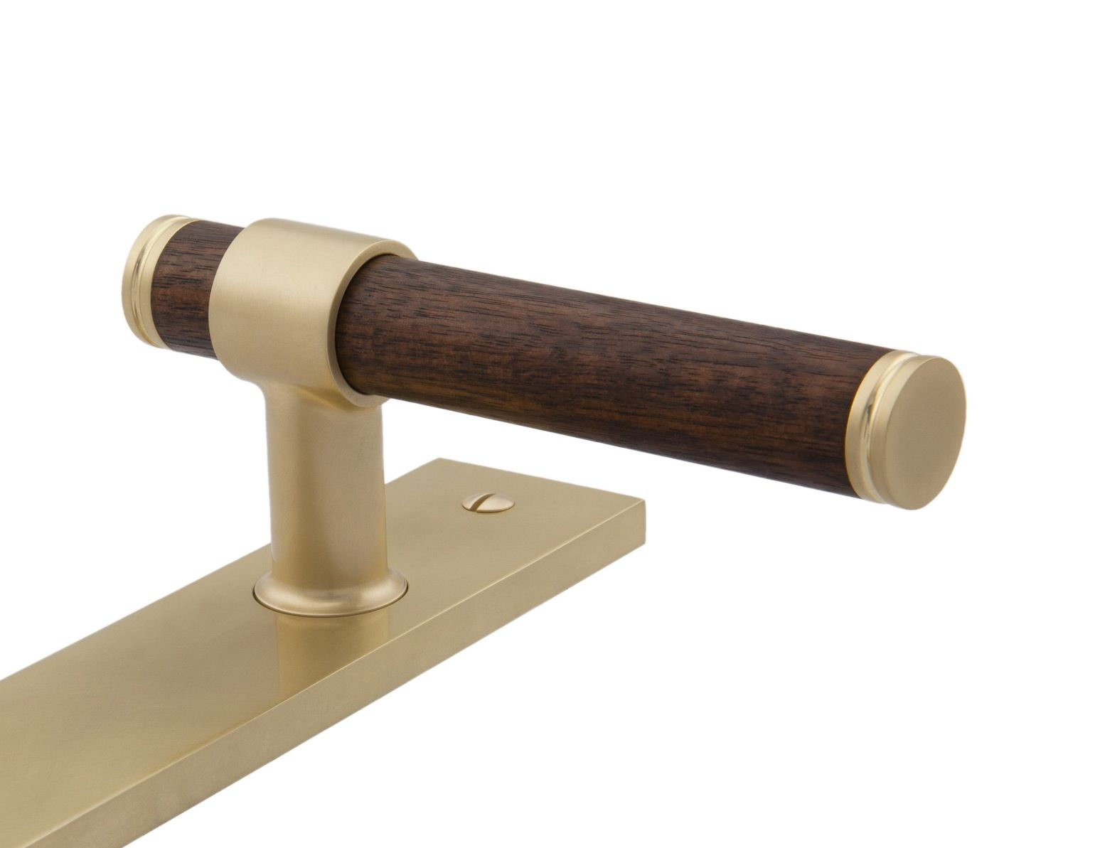 No 6527 L Modern Wood Lever Handle Contemporary, MidCentury Modern ...