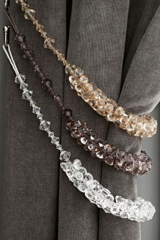 Buy Set Of 2 Beaded Tie Backs online today at Next: Denmark