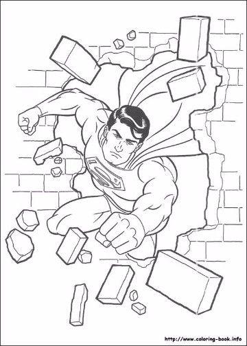 dibujos para colorear de superman en linea  mis cosas  Pinterest