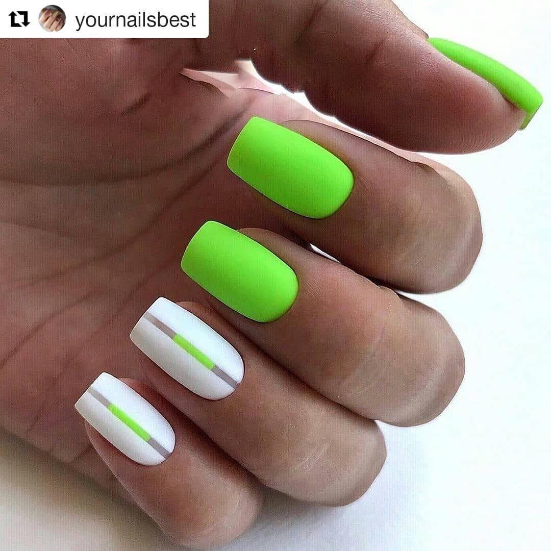 Neon Green Nail Design Zelenye Nogti Neonovye Nogti Nogti