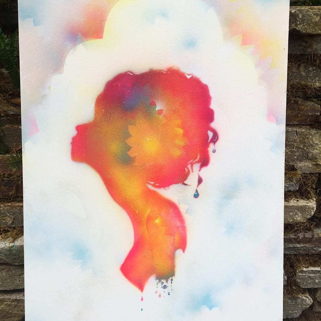 sparkly spray paint silhouette ✨✨