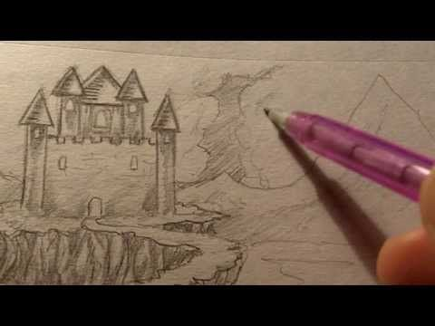 How To Draw A Castle Landscape