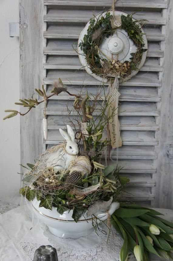 """Photo of Shabby Spring Deco """"Spring in the soup bowl …"""""""