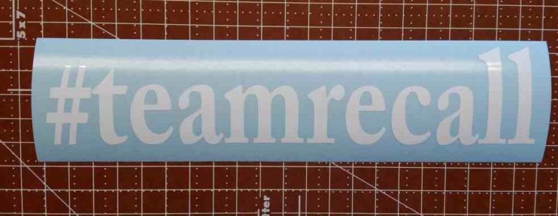 Teamrecall Decal Stickers Inches Long Inch Tall Made Outta - Vinyl decals car wash