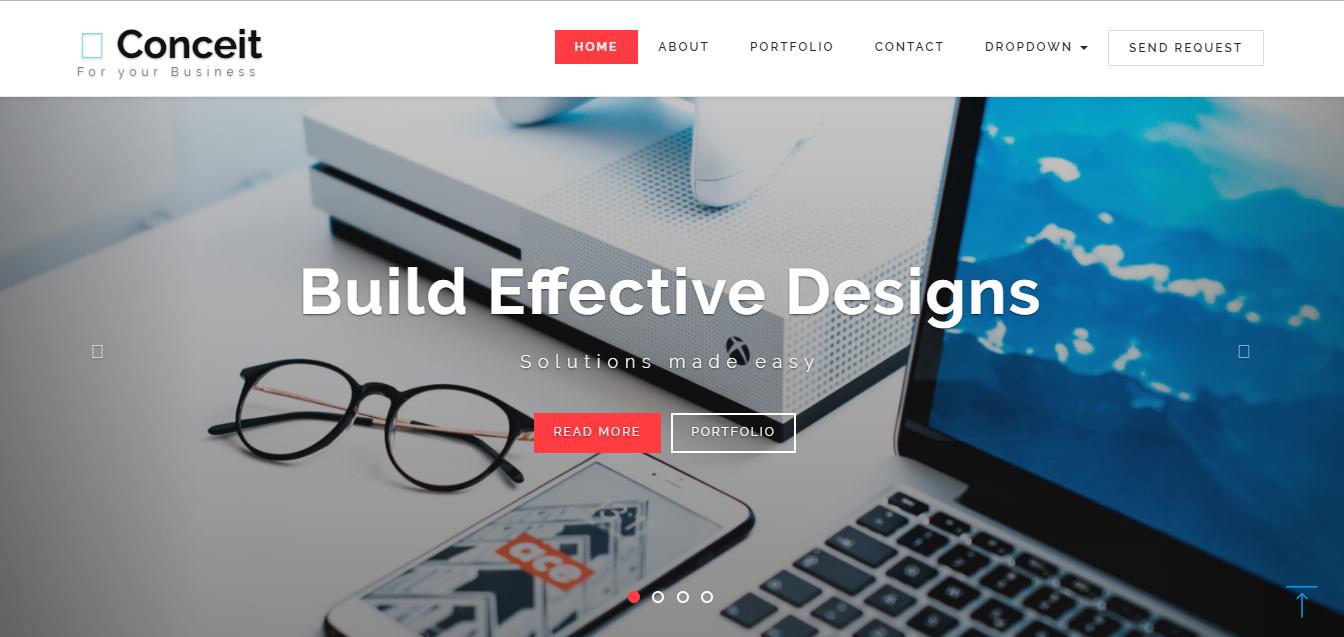 Conceit Web Development Design Homepage Design Web Template Design