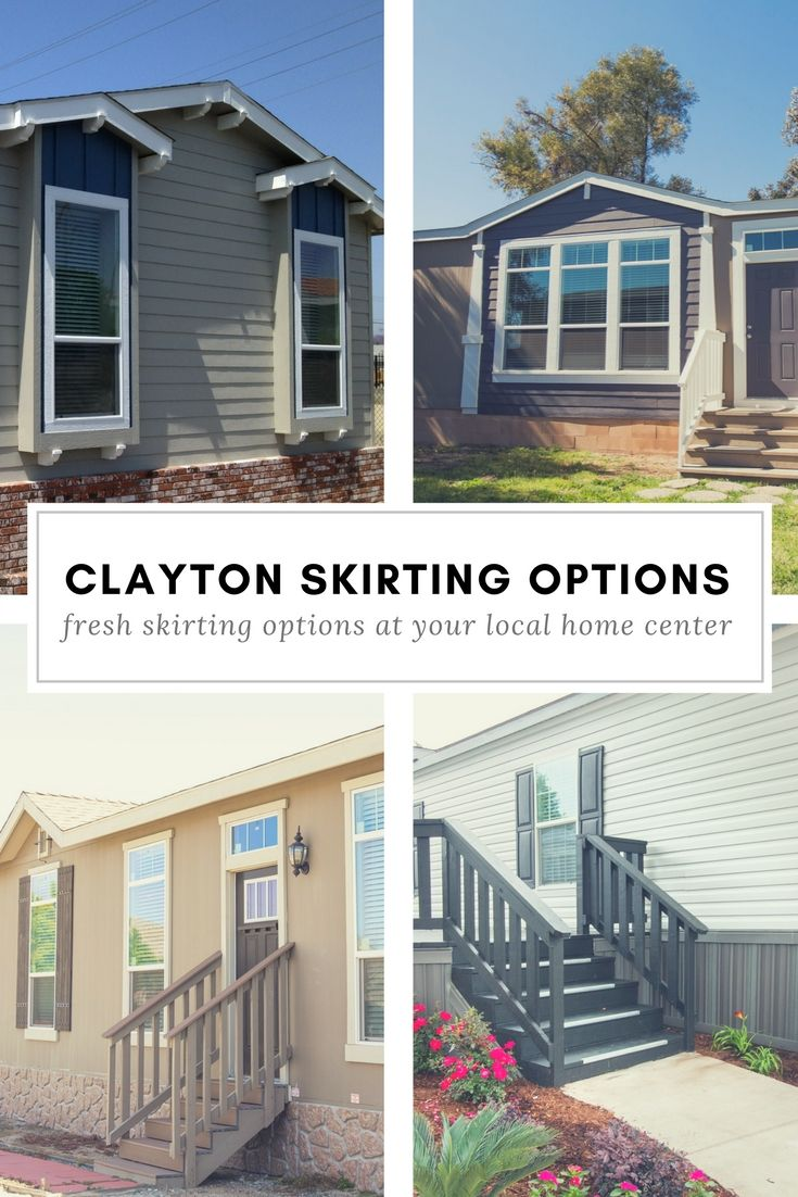 Clayton Manufactured Home Skirting Materials and Options | Flat ...
