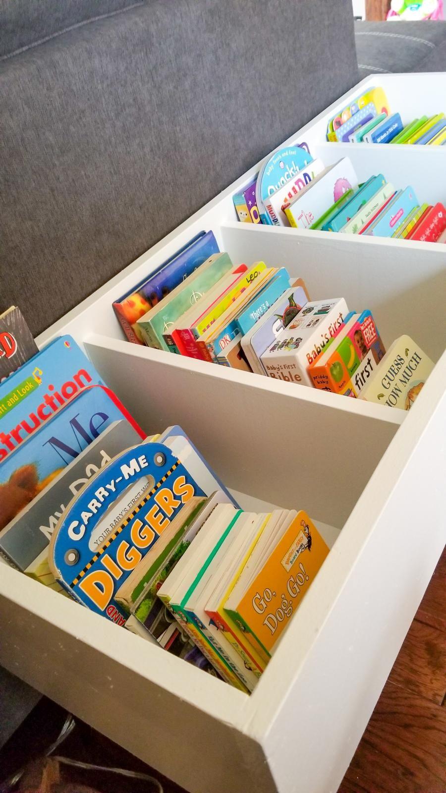 Diy Book Bin Diy Book Kids Book Storage Diy Board Book