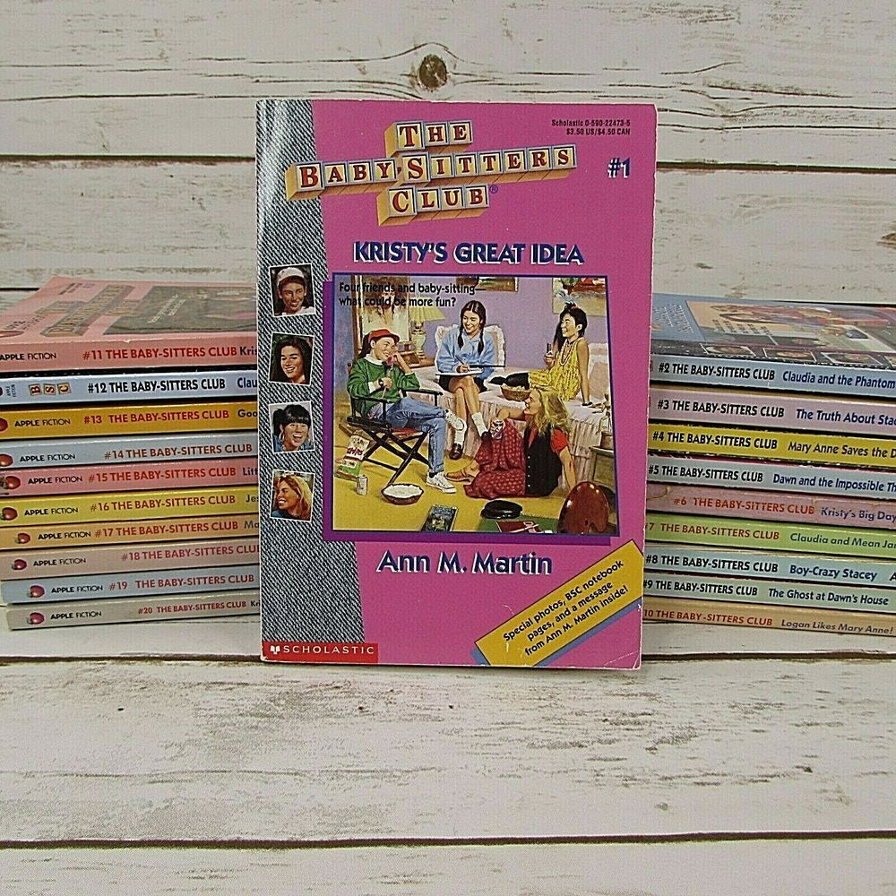 Lot 20 The Babysitters Club Book Series 1 20 Rl4 Chapter Books Ann M Martin Babysitters Club Books The Baby Sitters Club Book Series For Girls