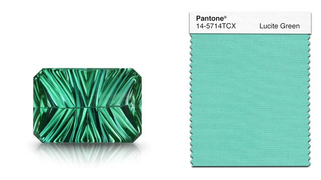 Fresh…cool….clarifying – that's how Pantone describes Lucite Green. tHIS tourmaline captures this gentler hue. GIA (022615)
