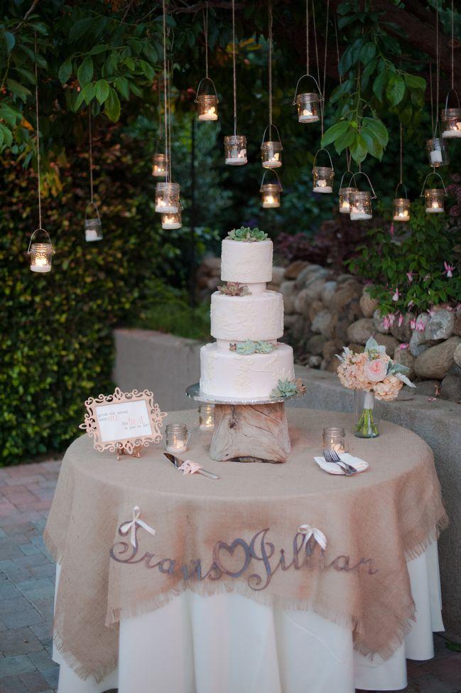 Wonderful Detail Filled Southwestern Desert Flower Themed Wedding At Maravilla Gardens Wedding Cake Table Decorations Wedding Cake Table Cake Table Decorations
