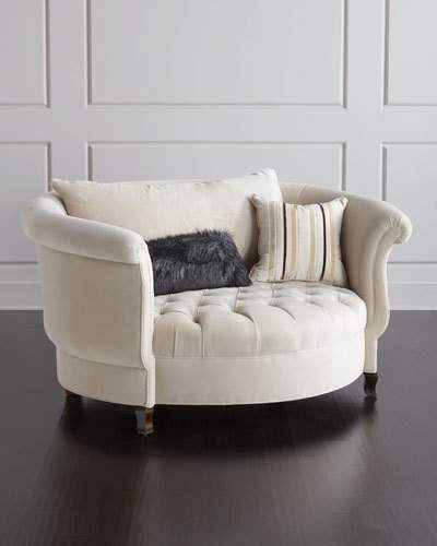Haute house harlow ivory cuddle chair in 2019 products - Ivory painted living room furniture ...