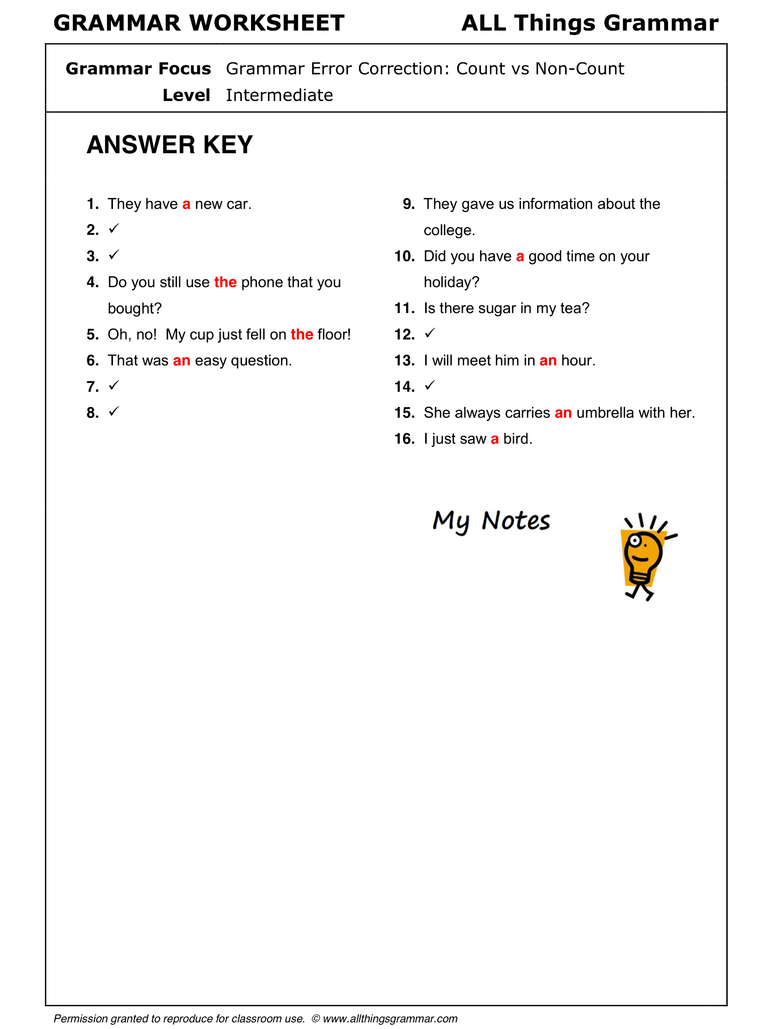 worksheet Count And Noncount Nouns Worksheet english grammar count and non nouns www allthingsgrammar com comcount