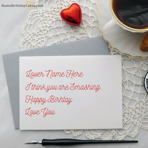 Write Name On Handmade Birthday Card For Lover Picture
