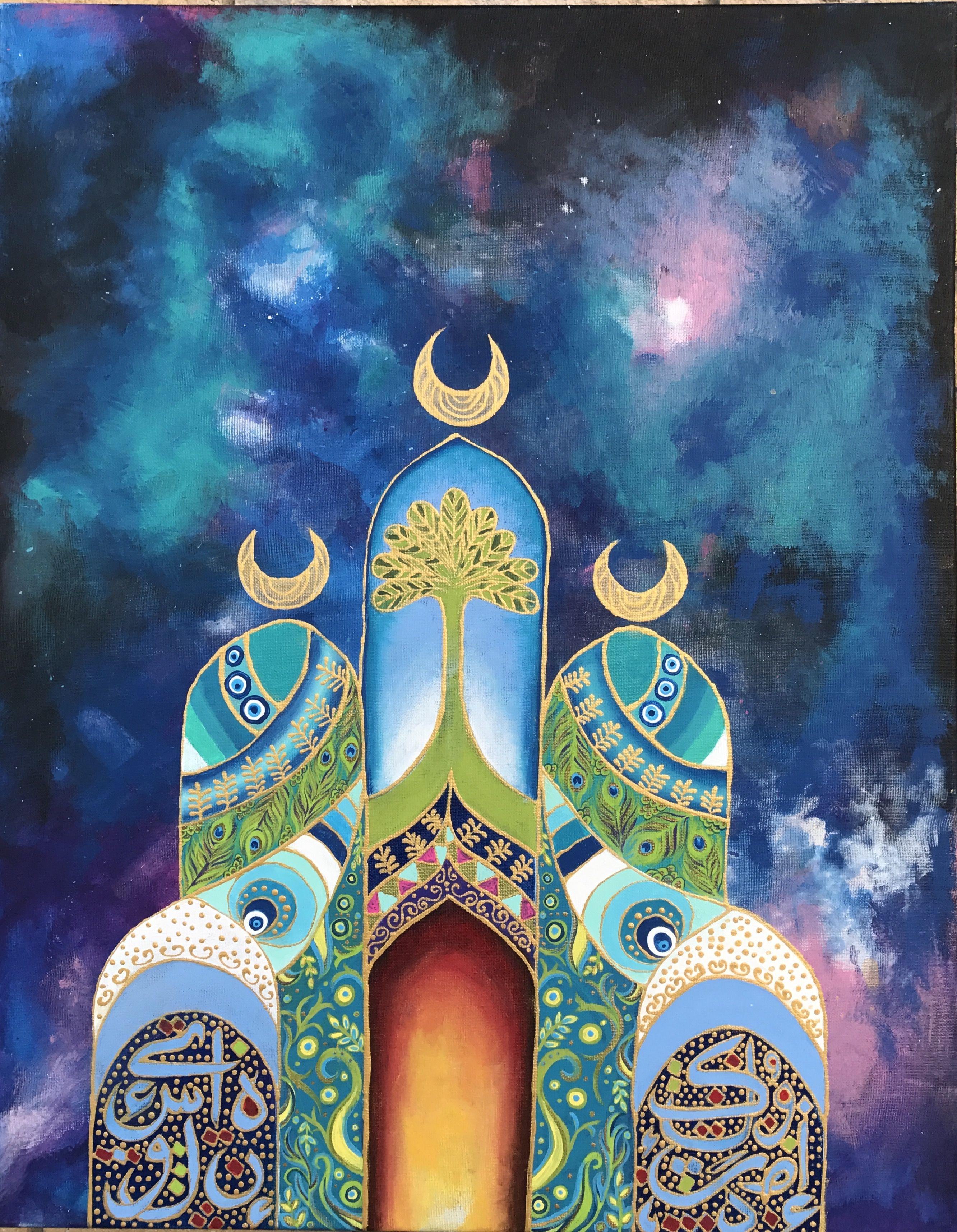 فن تشكيلي عراقي رسومات Cubist Art Mosque Art Islamic Art