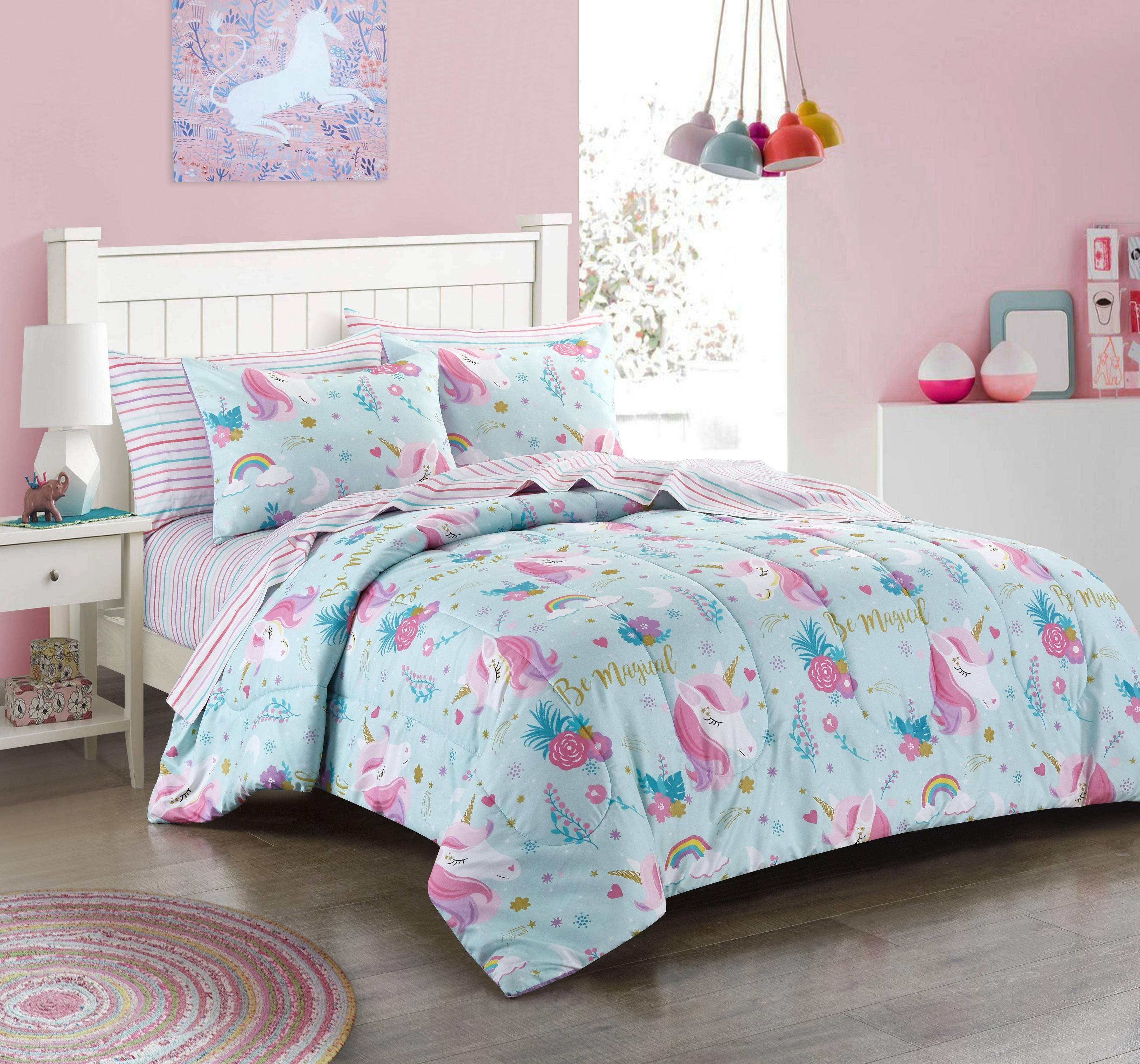 Home Bed In A Bag Unicorn Bedding Comforter Sets