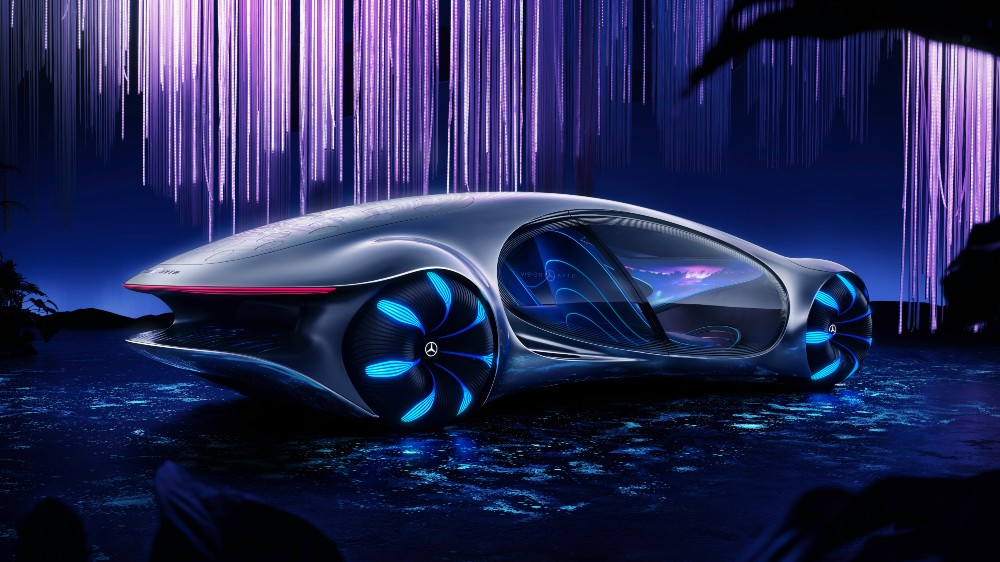 Mercedes Benz Unveils The Vision Avtr Concept Car Inspired By Avatar Robb Report In 2020 Future Concept Cars Mercedes Concept Concept Cars