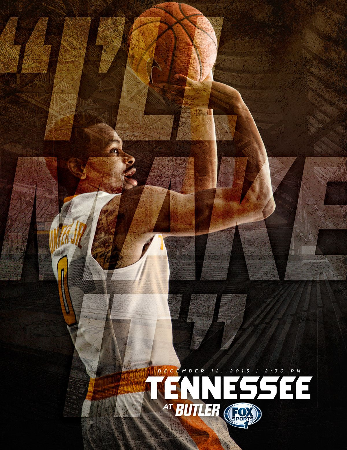 Tennessee Basketball Game Previews (2015-16) on Behance