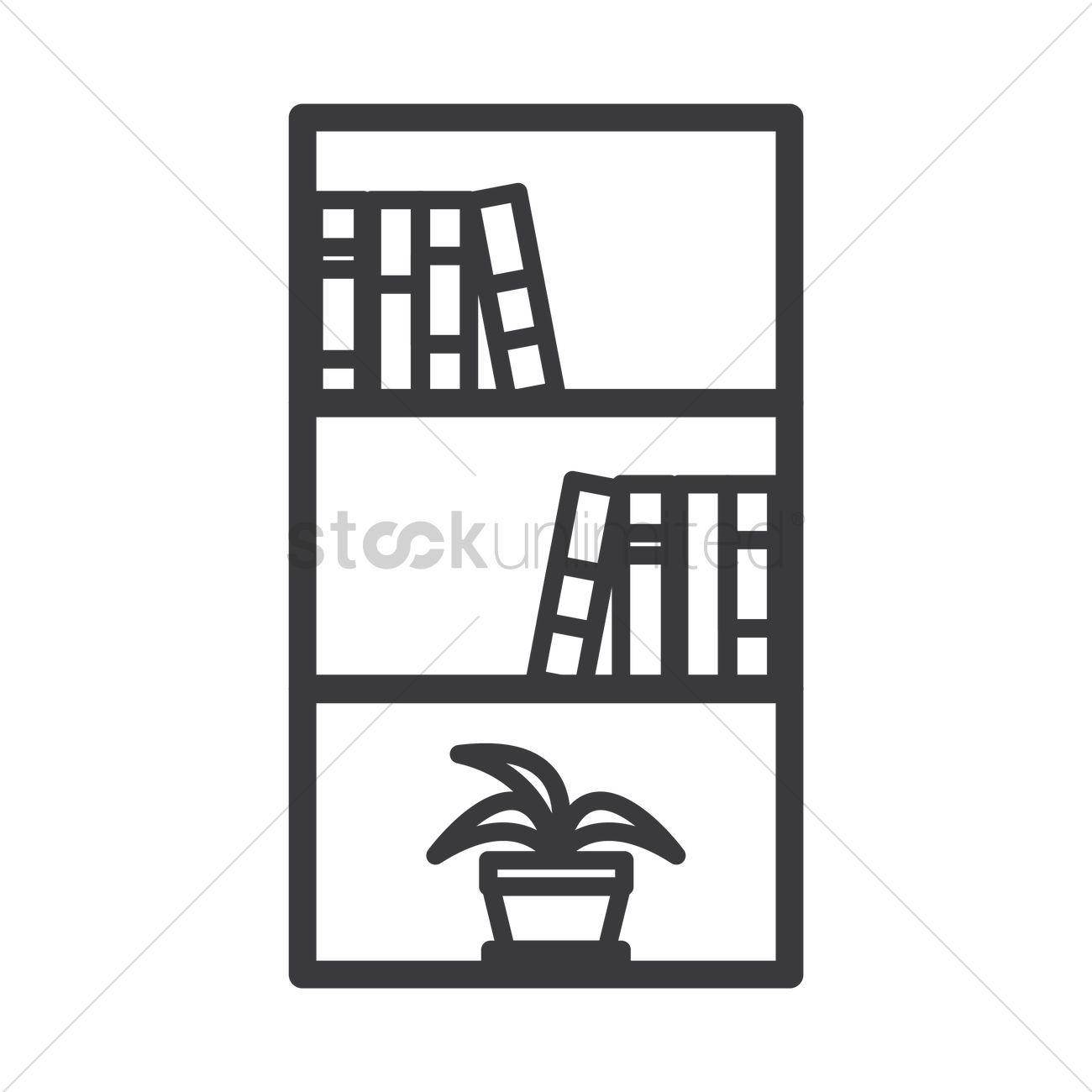Book shelf stock vector , #spon, #shelf, #Book, #vector, #