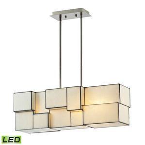 Elk Lighting Cubist 4 Light LED Chandelier in Brushed Nickel