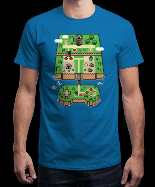 """Super Console World"" is today's £9/€11/$12 tee for 24 hours only on Pin this… 