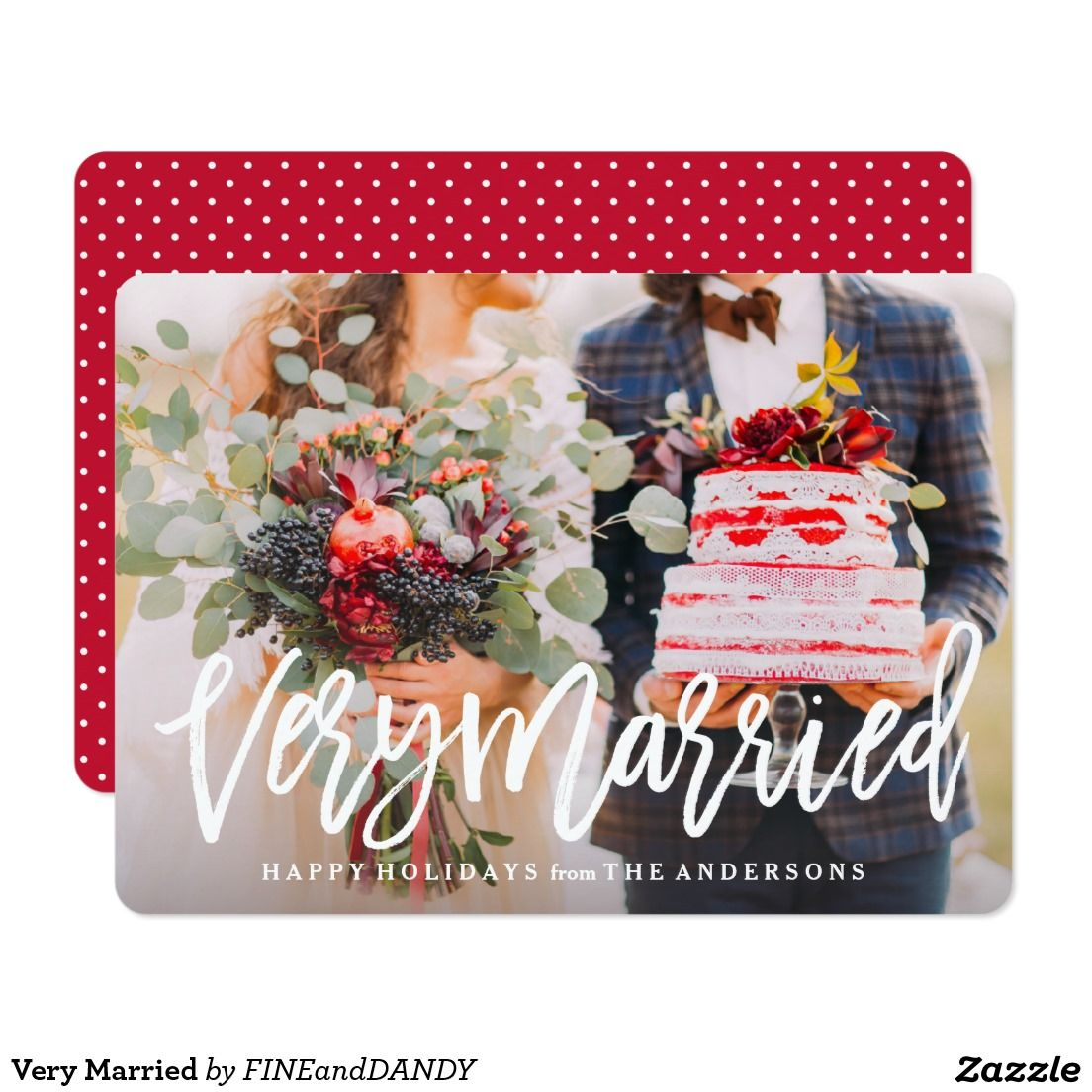 Very Married Holiday Photo Card @zazzle  #fineanddandypaperie