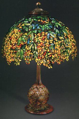 Beautiful Laburnum Lamp. Photo: Colin Cooke. The Lamps Of Louis Comfort Tiffany, By