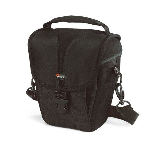 The Rezo TLZ 20 by Lowepro is designed specifically for distinctive, optical zoom digital cameras and compact digital SLRs.  This holster-style bag has stretch-to-fit lid, quick-release buckle and SlipLock™ attachment tab. Soft, brushed-tricot lining protects the camera and LCD screens.