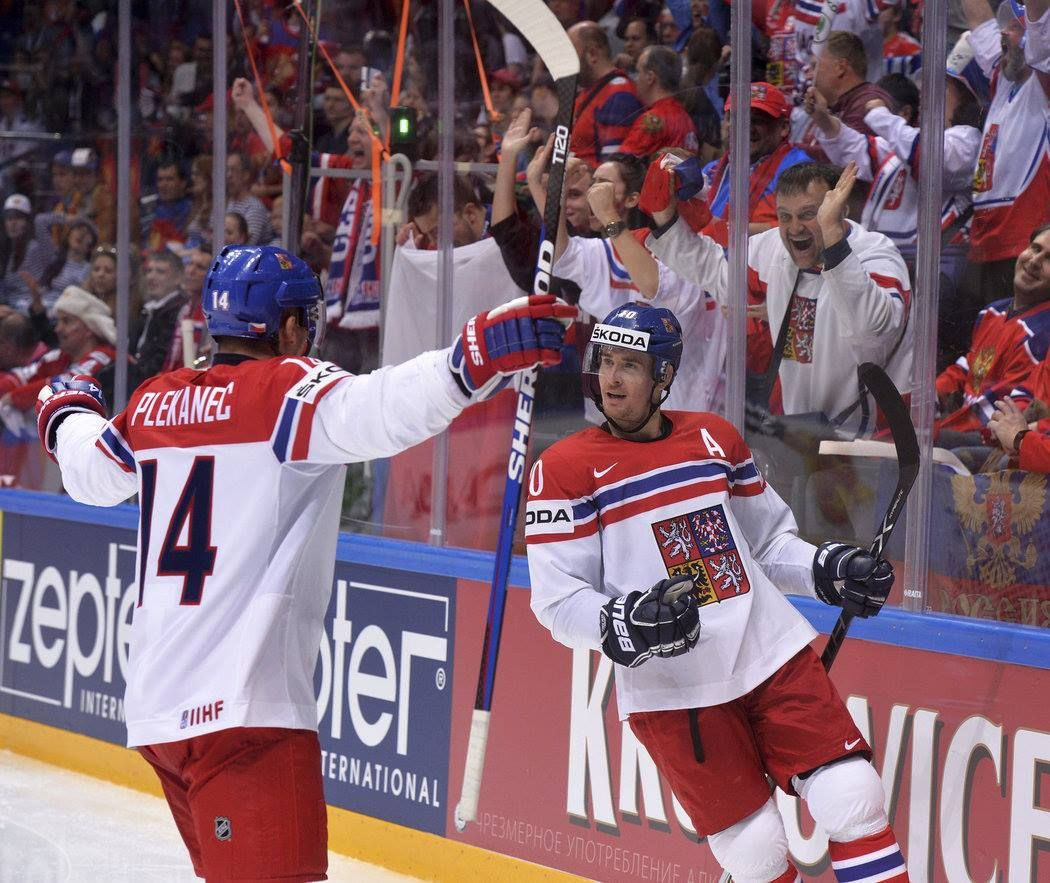 5399881d09a 14 Tomas Plekanec G 10 Roman Cervenka celebrate Goal CZEvsLAT 4-3 W OT So