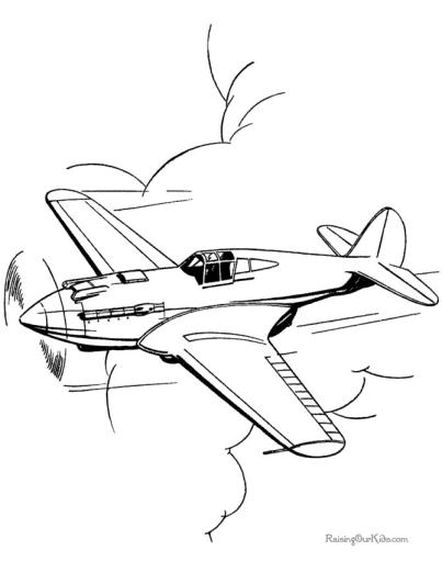 Printable Airplane Coloring Page