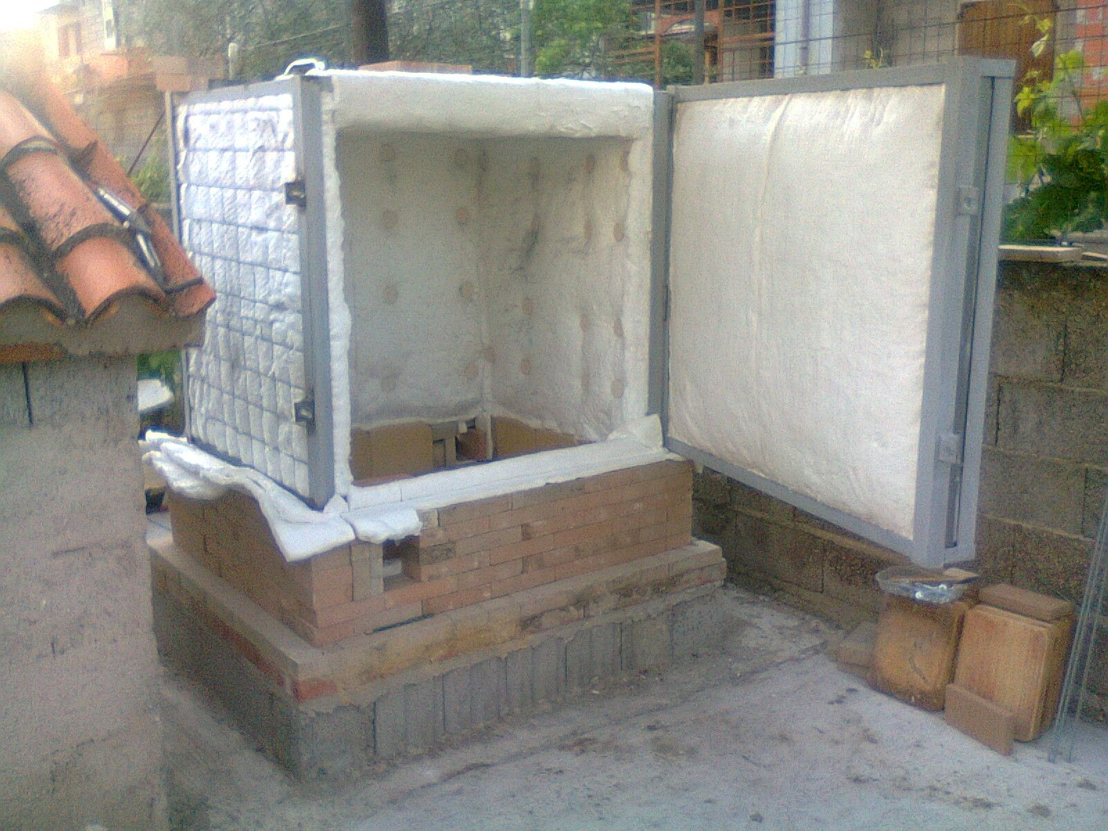 Self Made Ceramic Gas Kiln Structure In Steel And