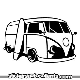 image detail for stickers drawings cars vw van surf 02 stencil pinterest adesivo. Black Bedroom Furniture Sets. Home Design Ideas