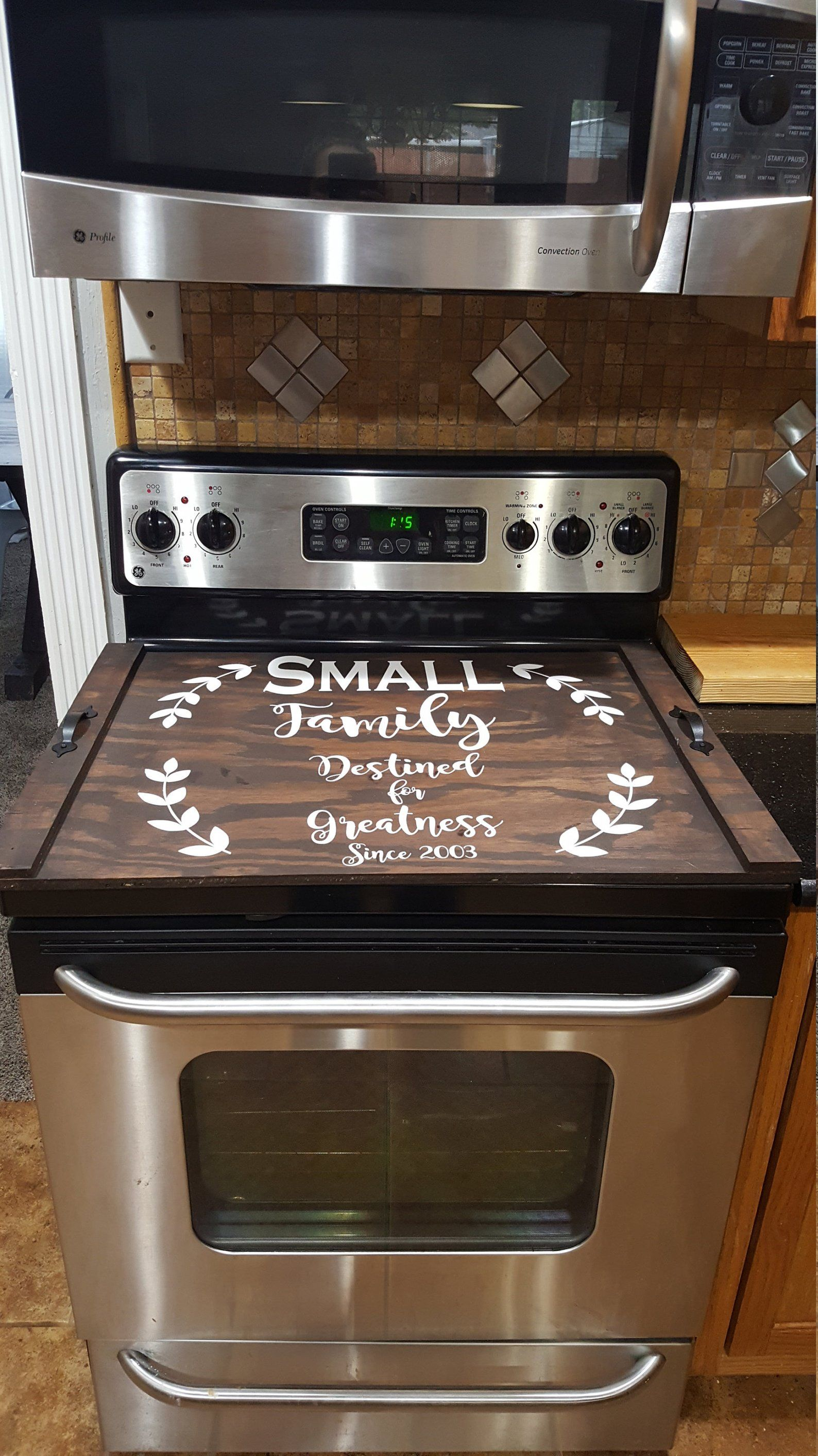 Custom Stove Top Cover Farmhouse Rustic Stove Cover Thick Burner Cover Personalized Wooden Tray Custom Wood Tray Noodle Board Farmhouse Home Stove Cover Stove Top Cover Craftsman Kitchen