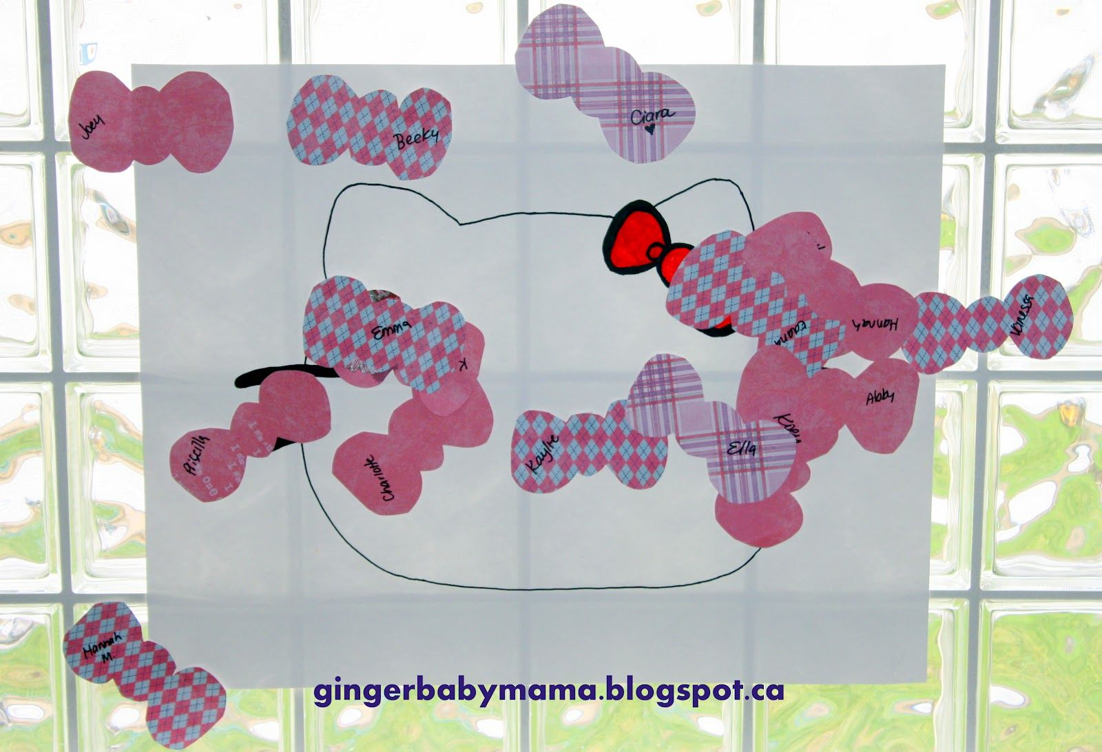 Pin the Bow on Hello Kitty -Hello Kitty Cupcake Decorating Party Ideas - GingerBabyMama