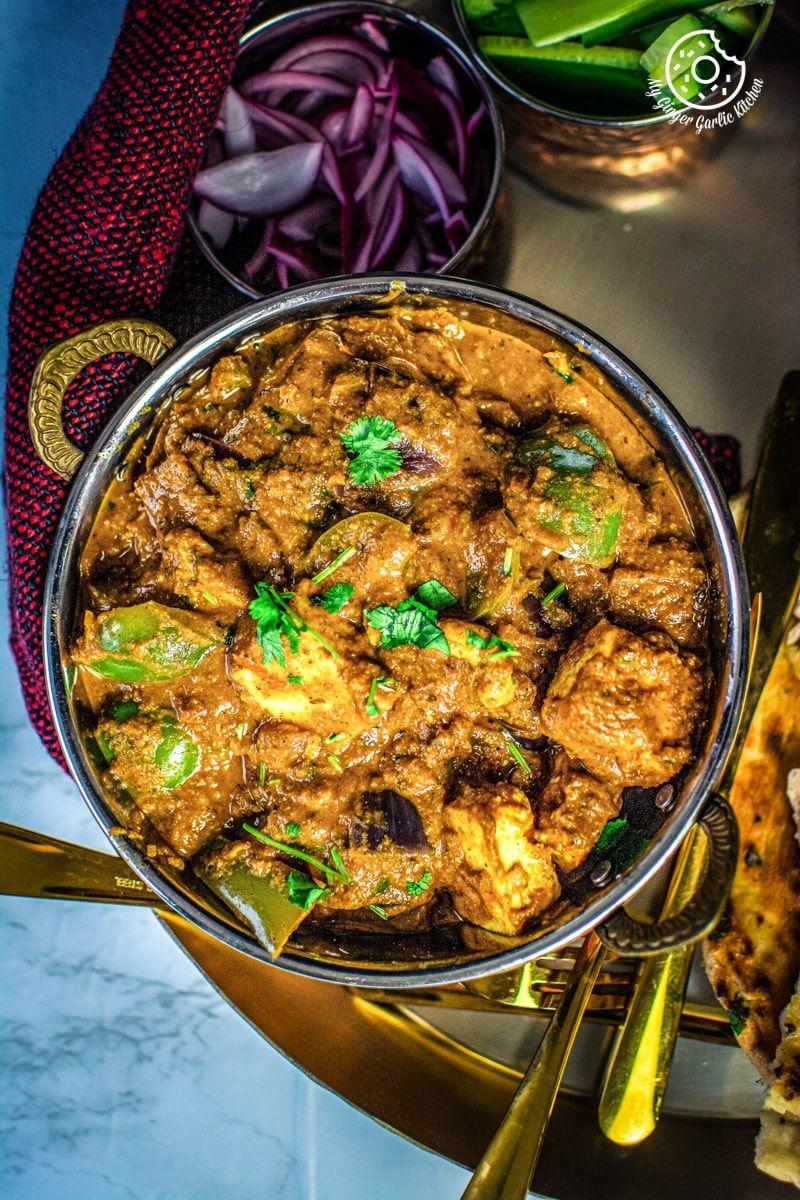 kadai paneer recipe in 2020 indian food recipes paneer dishes paneer on hebbar s kitchen kadai paneer id=34689