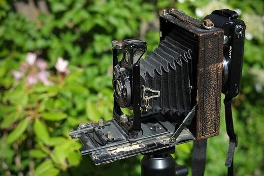 Reader showcase: Using a Sony NEX as a digital back on an antique camera: Digital Photography Review