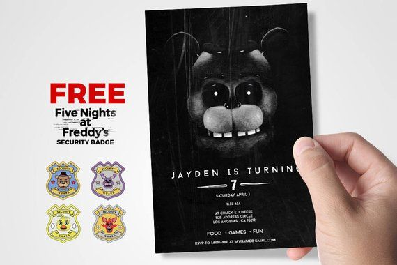 Five Nights At Freddys Invitations