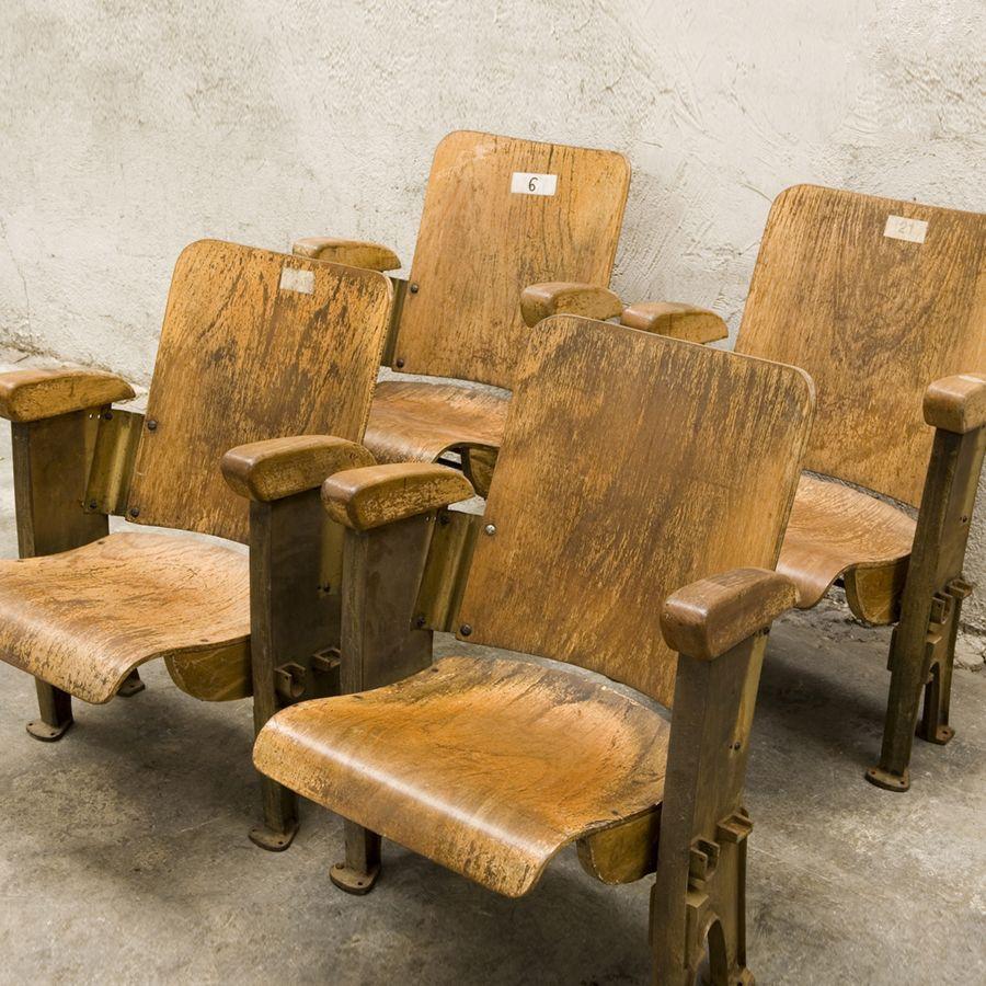 4 vintage cinema chairs (Paris)   Cinema Chairs   Pinterest ...