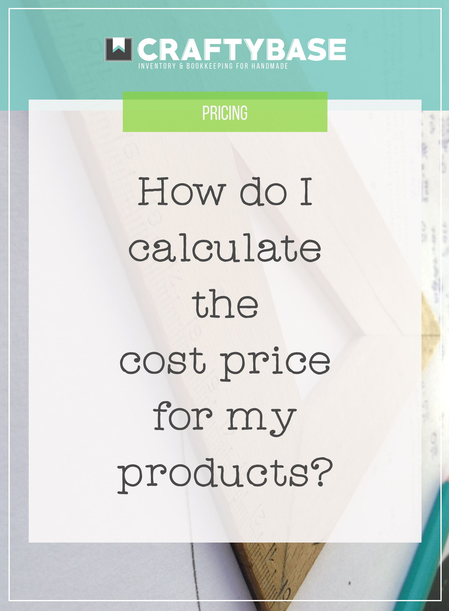 How do I calculate the cost price for my products?  Opening a