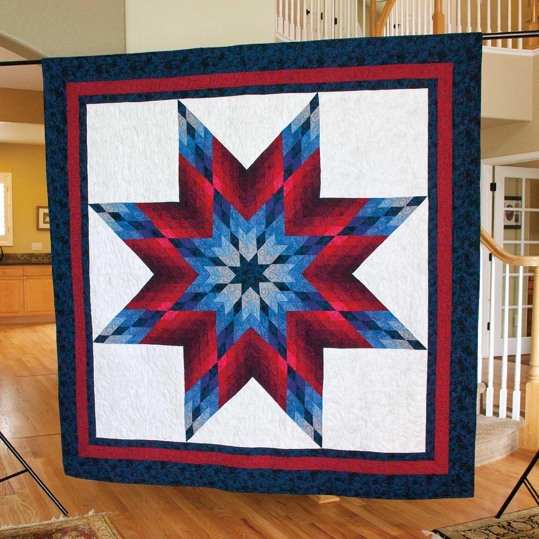 LONE STAR SALUTE: Patriotic Large Lap Quilt Pattern Designed by ... : large star quilt pattern - Adamdwight.com