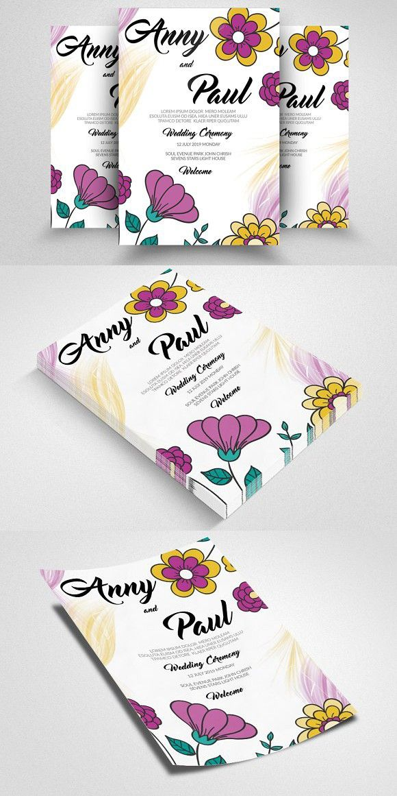 Invitation Flyer Template Wedding Card Templates Wedding Card - Invitation Flyer Template