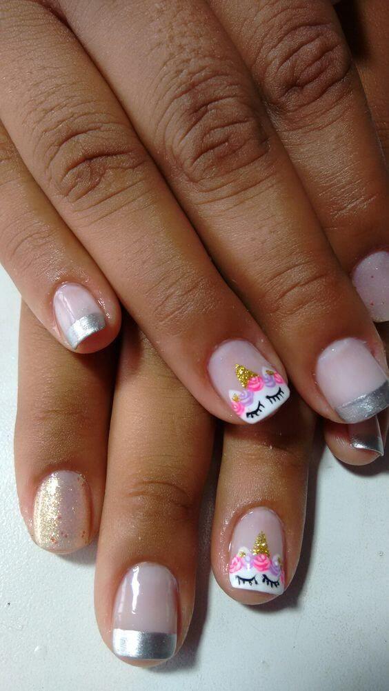 50 magical unicorn nail designs you will go crazy for - Modelo de unas pintadas ...