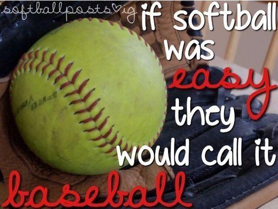 Pin by Rachael Jackson on Realness | Softball vs baseball ...