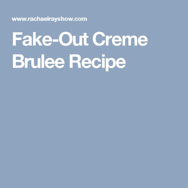 Fake-Out Creme Brulee Recipe